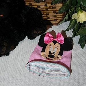 Child's Minnie Mouse pink bennie hat.  Size 2T-3T
